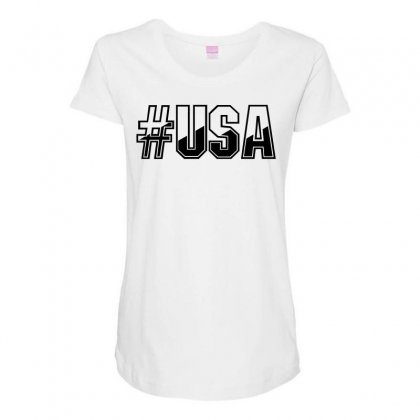 Usa Maternity Scoop Neck T-shirt Designed By Perfect Designers