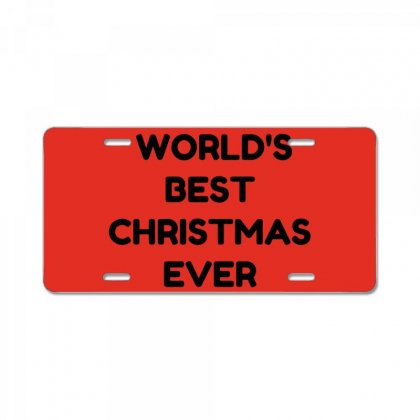 World's Best Christmas Ever License Plate Designed By Perfect Designers