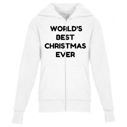 World's Best Christmas Ever Youth Zipper Hoodie Designed By Perfect Designers