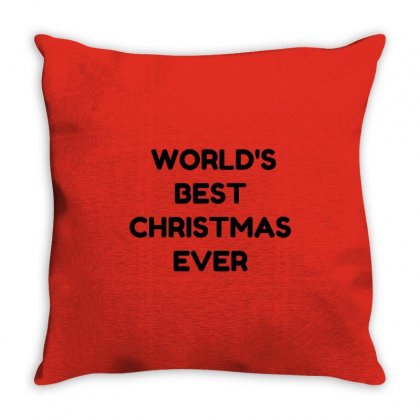 World's Best Christmas Ever Throw Pillow Designed By Perfect Designers