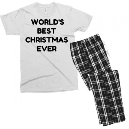 World's Best Christmas Ever Men's T-shirt Pajama Set Designed By Perfect Designers
