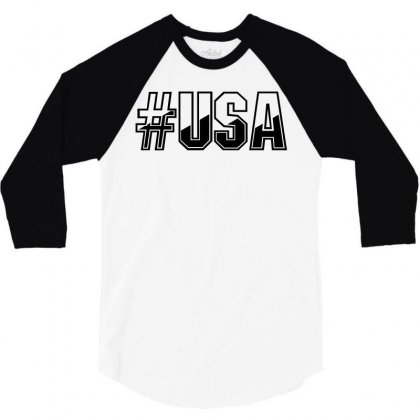 Usa 3/4 Sleeve Shirt Designed By Perfect Designers
