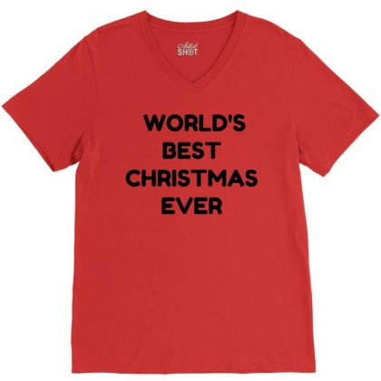 World's Best Christmas Ever V-neck Tee Designed By Perfect Designers