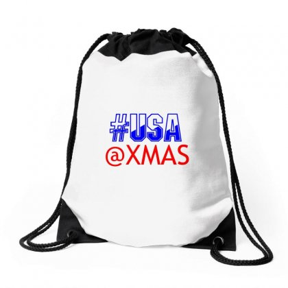 Usa At Xmass Drawstring Bags Designed By Perfect Designers