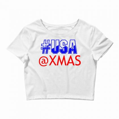 Usa At Xmass Crop Top Designed By Perfect Designers