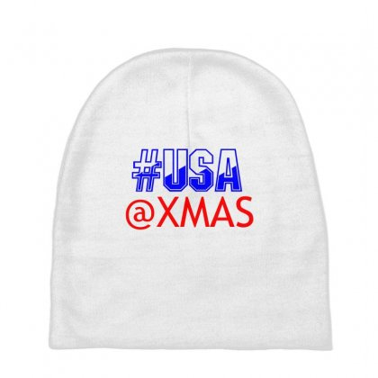 Usa At Xmass Baby Beanies Designed By Perfect Designers