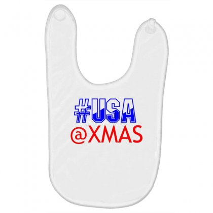 Usa At Xmass Baby Bibs Designed By Perfect Designers