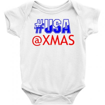 Usa At Xmass Baby Bodysuit Designed By Perfect Designers