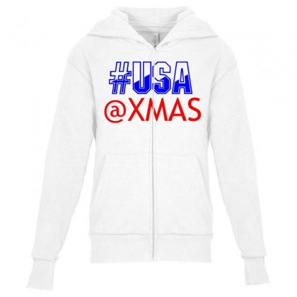 Usa At Xmass Youth Zipper Hoodie Designed By Perfect Designers