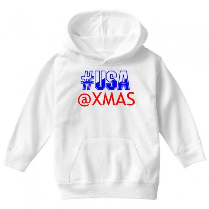 Usa At Xmass Youth Hoodie Designed By Perfect Designers