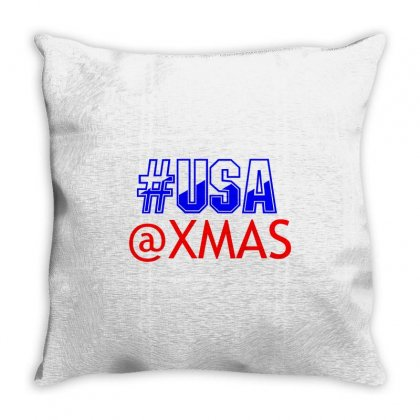 Usa At Xmass Throw Pillow Designed By Perfect Designers