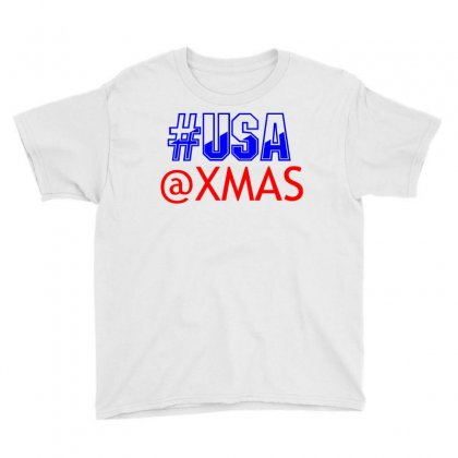 Usa At Xmass Youth Tee Designed By Perfect Designers