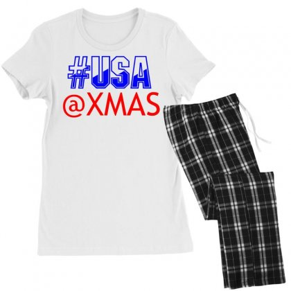 Usa At Xmass Women's Pajamas Set Designed By Perfect Designers