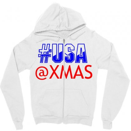 Usa At Xmass Zipper Hoodie Designed By Perfect Designers