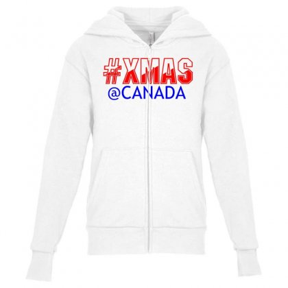 Xmas At Canada Youth Zipper Hoodie Designed By Perfect Designers