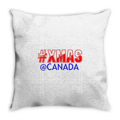 Xmas At Canada Throw Pillow Designed By Perfect Designers