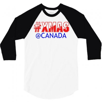 Xmas At Canada 3/4 Sleeve Shirt Designed By Perfect Designers