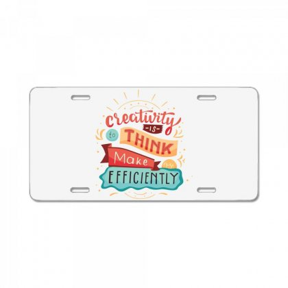 Creativity Is Think Make Efficient License Plate Designed By Tudtoojung