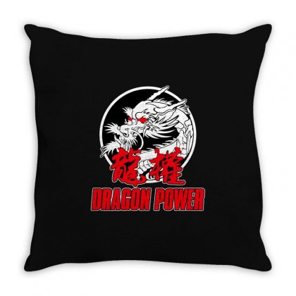 Dragon Power Throw Pillow Designed By Broliant