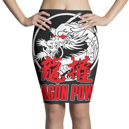 Dragon Power Pencil Skirts Designed By Broliant