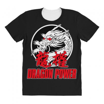 Dragon Power All Over Women's T-shirt Designed By Broliant