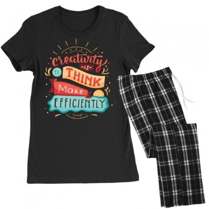 Creativity Is Think Make Efficient Women's Pajamas Set Designed By Tudtoojung