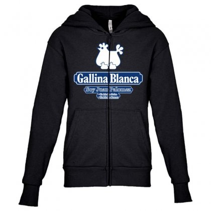 Gallina Blanca Youth Zipper Hoodie Designed By Broliant