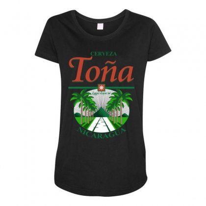 Tona Beer Maternity Scoop Neck T-shirt Designed By Broliant