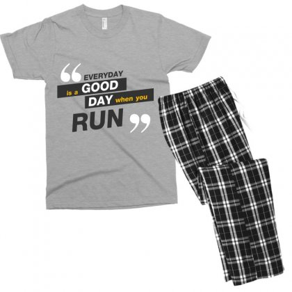 Everday Is A Good Day You Run Men's T-shirt Pajama Set Designed By Tudtoojung
