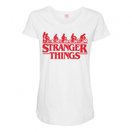 Stranger Things 3 Maternity Scoop Neck T-shirt Designed By Toweroflandrose
