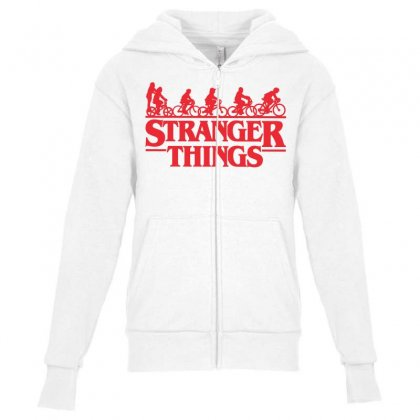 Stranger Things 3 Youth Zipper Hoodie Designed By Toweroflandrose