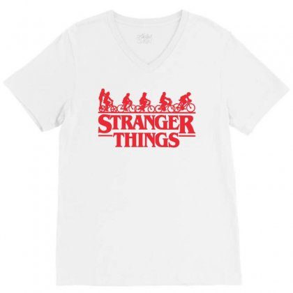 Stranger Things 3 V-neck Tee Designed By Toweroflandrose