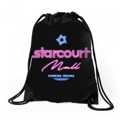 Starcourt Mall Drawstring Bags Designed By Toweroflandrose
