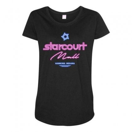 Starcourt Mall Maternity Scoop Neck T-shirt Designed By Toweroflandrose