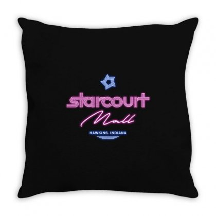 Starcourt Mall Throw Pillow Designed By Toweroflandrose
