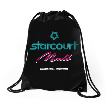 Starcourt Mall Stranger Things Drawstring Bags Designed By Toweroflandrose