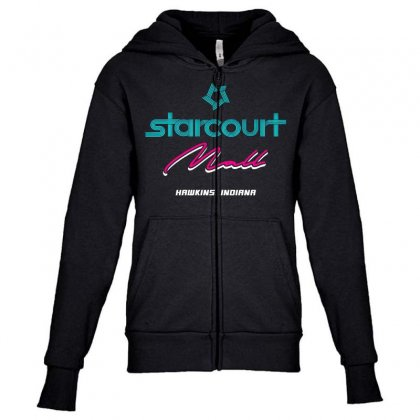 Starcourt Mall Stranger Things Youth Zipper Hoodie Designed By Toweroflandrose