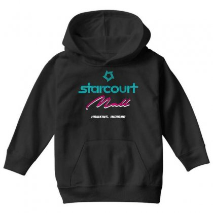 Starcourt Mall Stranger Things Youth Hoodie Designed By Toweroflandrose