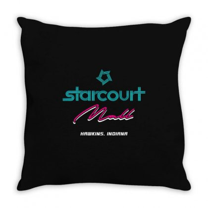 Starcourt Mall Stranger Things Throw Pillow Designed By Toweroflandrose