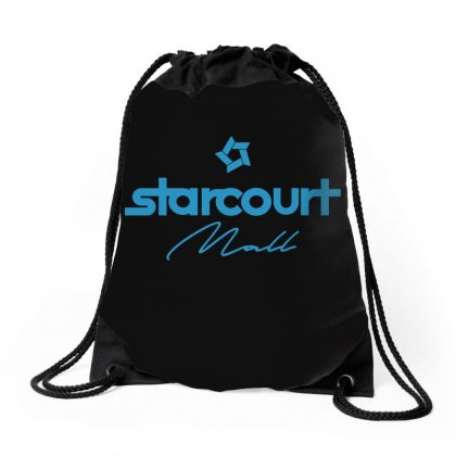 Starcourt Mall Solid Drawstring Bags Designed By Toweroflandrose