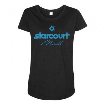 Starcourt Mall Solid Maternity Scoop Neck T-shirt Designed By Toweroflandrose
