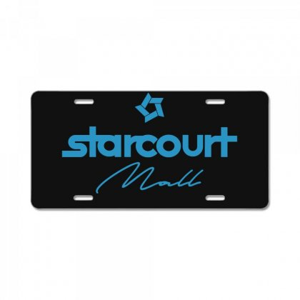 Starcourt Mall Solid License Plate Designed By Toweroflandrose