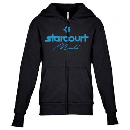 Starcourt Mall Solid Youth Zipper Hoodie Designed By Toweroflandrose