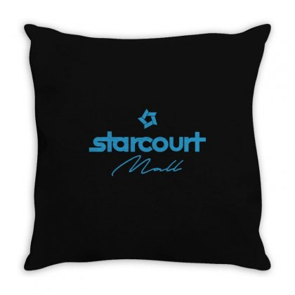 Starcourt Mall Solid Throw Pillow Designed By Toweroflandrose