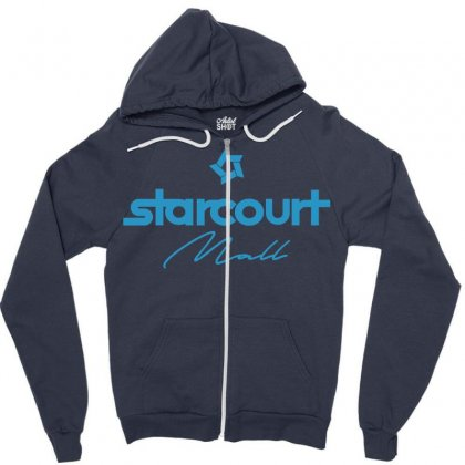 Starcourt Mall Solid Zipper Hoodie Designed By Toweroflandrose