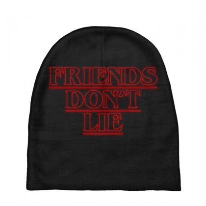 Friends Dont Lie Outline Baby Beanies Designed By Toweroflandrose