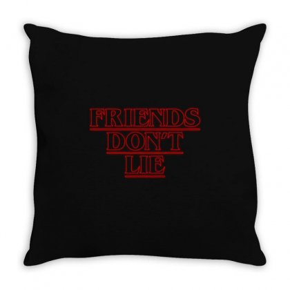 Friends Dont Lie Outline Throw Pillow Designed By Toweroflandrose
