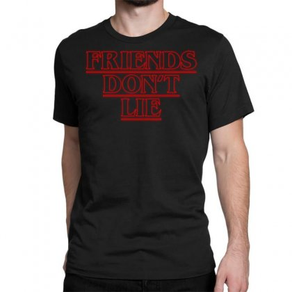 Friends Dont Lie Outline Classic T-shirt Designed By Toweroflandrose