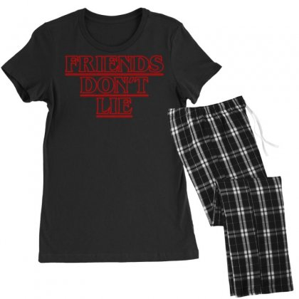 Friends Dont Lie Outline Women's Pajamas Set Designed By Toweroflandrose