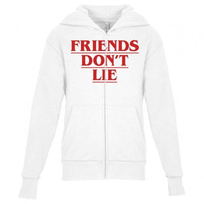 Friends Dont Lie Youth Zipper Hoodie Designed By Toweroflandrose
